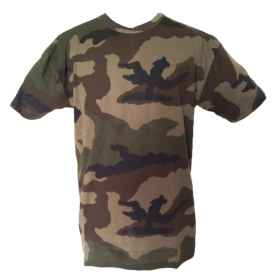T-shirt jersey half-sleeve military camouflage French camo