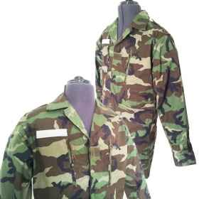 French full camouflage uniform cotton woodland military soldier