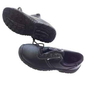 Shoes work accident black dawn soft lace-up slip-resistant outsole