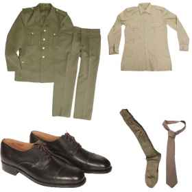 Lot army stock split drop shoes from the official socks, a shirt and a tie