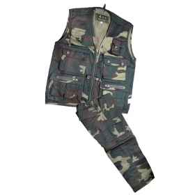 Complete baby child vest pant camouflage military sports cotton