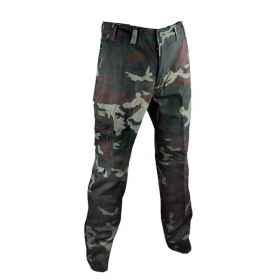 Pants trousers calzone canvas men hunting cargo pockets cotton sports unlined