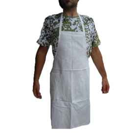 Apron paravanti dickey damask white food bakery pastry chef