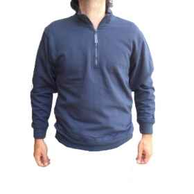 Chemise tricot sweatshirt pêche sportive mens coton mince zip chasse