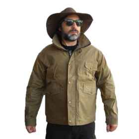 Jacket jacket jacket waxed hunting fishing italy waterproof zip rain man