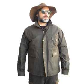 Vest jacket waxed cotton hunti