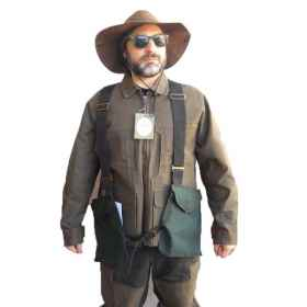 The vest vest hunting sport tear airsoft man waxed cotton suspenders