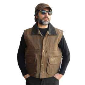 Vest sleeveless cotton men hunting woodcock hunting waterproof pockets
