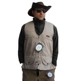 Sleeveless vest man hunting pockets openable fishing shooting sports cartridges