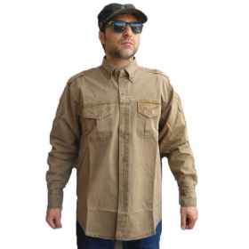 Shirt hunting sports pockets buttons cotton cool summer fishing breathable