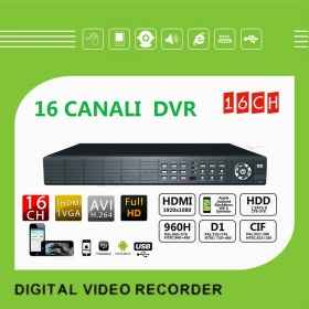Dvr 16 channel ch 1080p 1 hdmi 1 vga with hard drive included 500 gb