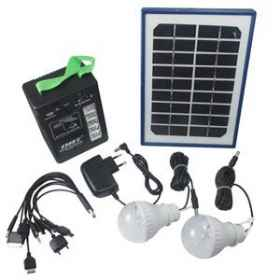 Kit solar energy panel flashlight battery bulb light led usb