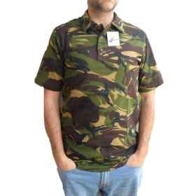 Polo shirt t-shirt camouflage camo men's summer cotton short sleeves sports