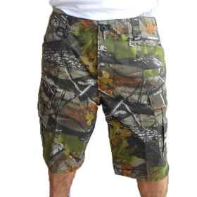 Shorts bermuda short man in the woods hunting sport summer cotton