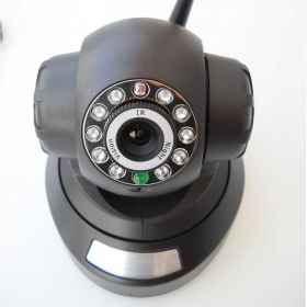 Camera ip camera cam wi-fi p2p record sd dvr 10 led lan rj45