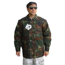 Jacket coat men hunting camo camouflage padded pockets windproof