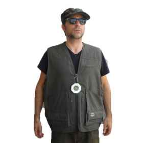 Vest sleeveless waistcoat ontario canvas hunting man sporting cartridge belt