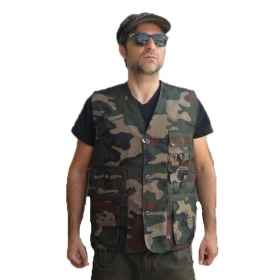 Vest sleeveless waistcoat cartridge belt poly camouflage sports man hunting