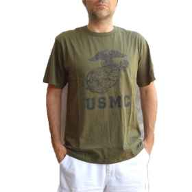 Mesh tshirt half sleeves men round neck green military army cotton