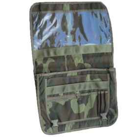 Document bag and pc in camouflage inside pockets