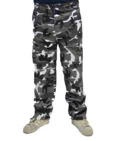 Trousers pants mens urban cargo black-and-white work camouflage camouflage