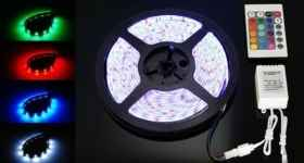 RGB LED strip 5m smd 5050 waterproof remote control and fabricator included