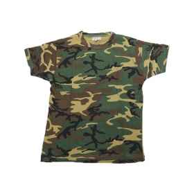 T - shirt round neck short-sleeved knit shirt camouflage fatigues man