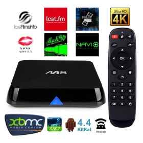 Android TV Box CPU 4K MALI S802 quad -core 8-core Android 4.4 KiKat 5.0Wifi M8