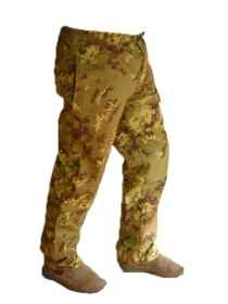 Pantalaccio pants vegetated military work camo elastic cotton