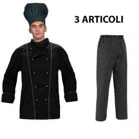 Full jacket cook with black pi
