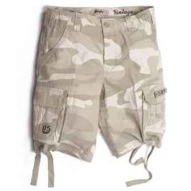 Bermuda shorts short pants military cargo pockets in the summer man of the sea cotton