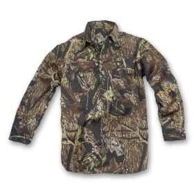 Shirt hunting woods forest long sleeve flap clothing hunter cotton