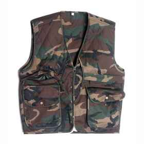 Vest hunting cotton camo green fishing multipockets practical autumn