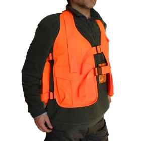 Trisacca wild boar hunting vest high visibility orange hunting sports