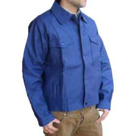 Jacket jacket worker factory moleskin uniform cotton mechanic blue work