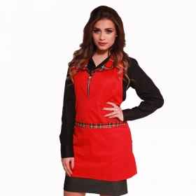 Apron woman christmas christmas zip restaurant bar work cotton short
