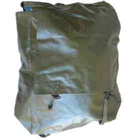 Backpack plastic bag military