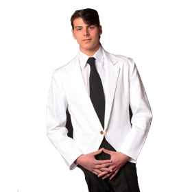 Jacket white hall short waiter working the restaurant, elegant hotel bar, gala