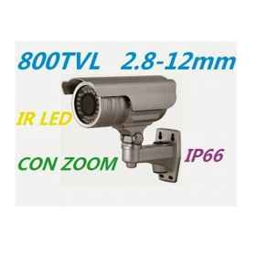3 x caméra 1/3 ccd de 800 tvl optique à focale variable de la lentille de zoom regolab mm 36 led ir