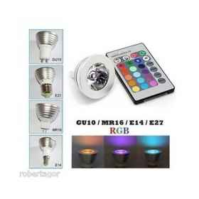Led spotlight rgb e27 programm
