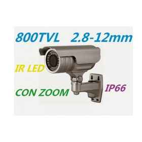 Camera 1/3 ccd 800 tvl optical varifocal zoom lens adjustable mm 36 ir led