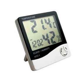 Thermometer hygrometer digital temperature humidity in home, weather station alarm clock