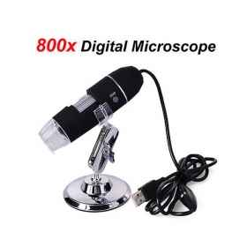 Digital microscope usb 20x - 800x pc notebook foto e video 8 led 2.0 mpx