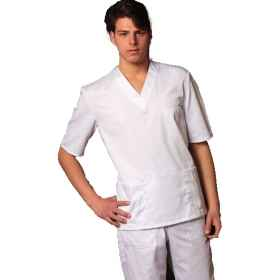 UNIFORM HOSPITAL COTTON TUNIC AND PANTS, V-NECK UNISEX