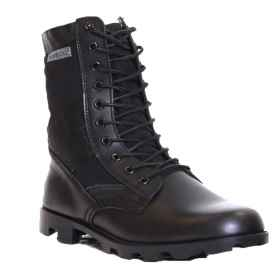 Boots amphibian skin jungle black lace-up military army man rain
