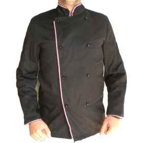 Jacket cook black italy tricolor cotton clothing, chef kitchen restaurant
