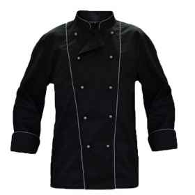 Chef jacket coat cotton black chef
