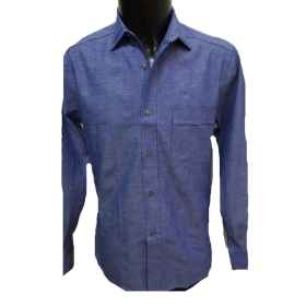 Shirt sanforizzata man buttons work, factory sports clothing