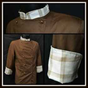 Jacket, tunic, kitchen chocola