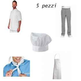 Complete cook half sleeves short chef summer stock clothing pizza man